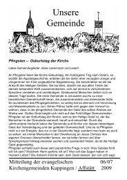 Unsere Gemeinde - Evangelische Kirchengemeinde Affstätt