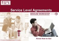Service Level Agreements - NetCo Consulting GmbH