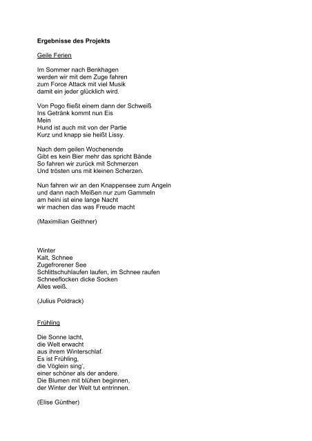 Gedichte Gymnasium Franziskaneum Meißen