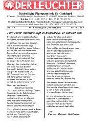 Katholische Pfarrgemeinde St. Godehard - Linden entdecken...