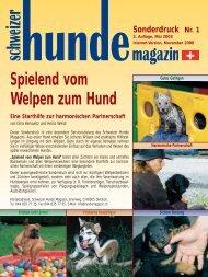 Spielend vom Welpen zum Hund - Schweizer Hunde Magazin