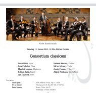 Consortium classicum - Gesellschaft Freunde der Musik