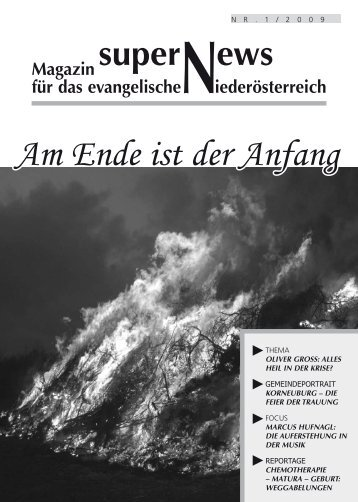 Am Ende ist der Anfang - Evangelischen Kirche in Niederösterreich