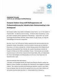 European Outdoor Group stellt Reifungsprozess und ...