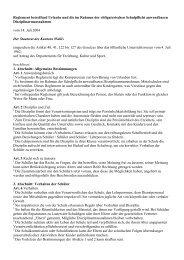 Neues Reglement betreffend Sonderurlaube und ... - OLLO