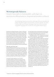 Wertsteigernde Faktoren - Volkswagen Konzern