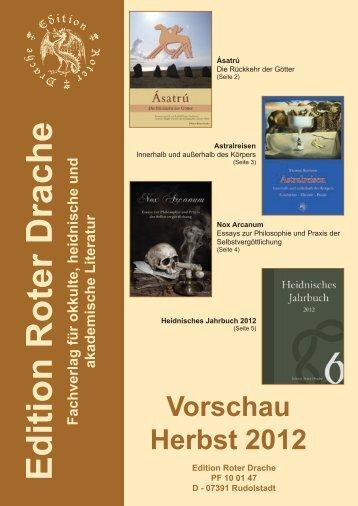 Vorschau Herbst 2012 - Edition Roter Drache