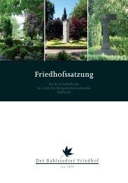 Klicken Sie hier um die Satzung 2010 zu öffnen. - Friedhof Rahlstedt