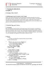 7. Sonntag im Jahreskreis Lesejahr A - Katholisches Bibelwerk