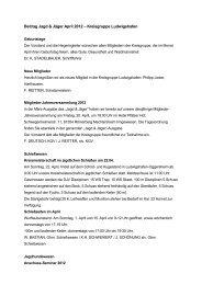 Beitrag Jagd & Jäger April 2012 – Kreisgruppe Ludwigshafen
