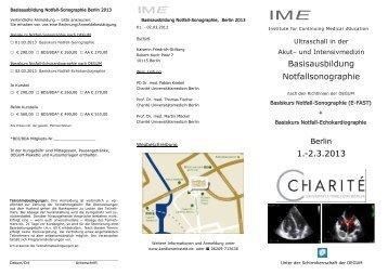 Basisausbildung Notfallsonographie 1.-2.3.2013 - Kardiowerkstatt