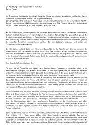 Die Ablehnung der Homosexualität im Judentum Dennis ... - Narth
