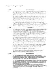Auszug aus dem Strafgesetzbuch (StGB), Vorteilsannahme