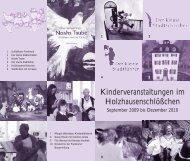 Kinderveranstaltungen im Holzhausenschlößchen - Frankfurter ...