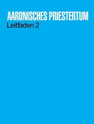 Aaronisches Priestertum – Leitfaden 2 - The Church of Jesus Christ ...