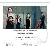 Daedalus Quartett - Gesellschaft Freunde der Musik