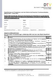 Kriterien zur Klassifizierung von Privatzimmernn - Thüringer ...