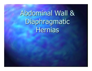 Abdominal Wall & Diaphragmatic Hernias - Dr Jonathan Leith