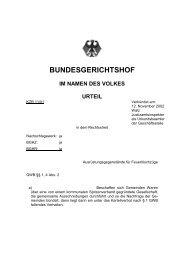 BUNDESGERICHTSHOF - Oeffentliche Auftraege