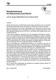 Dienstanweisung für Pfarrerinnen und Pfarrer - Reformierte Kirchen ...
