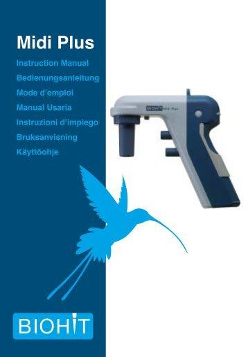 Midi Plus manual in English - Biohit