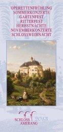 operettenfrühling sommerkonzerte gartenfest - Schloss Amerang