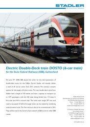 Electric Double-Deck train DOSTO (6-car train)