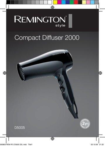 Návod na použití výrobku Vysoušeč vlasů Compact 2000 W s ...