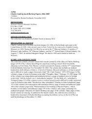 Borberg, Charles Ludwig Jacob, Papers.pdf - Missouri History ...