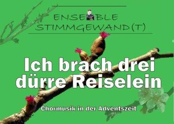 """Programmheft """"Ich brach drei dürre Reiselein"""" 2009 - ensemble ..."""