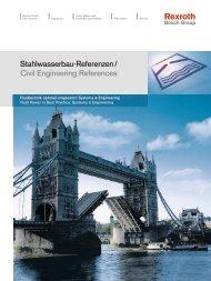 Stahlwasserbau-Referenzen / Civil Engineering References