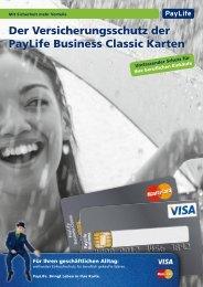 Versicherungsschutz PayLife Business Classic (pdf) - Kreditkarte.at