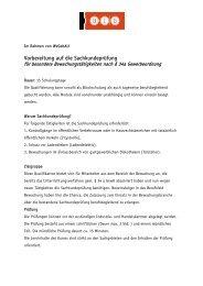 Vorbereitung auf die Sachkundeprüfung - BIB Augsburg gGmbH