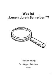"""Was ist """"Lesen durch Schreiben""""? - Jürgen Reichen"""