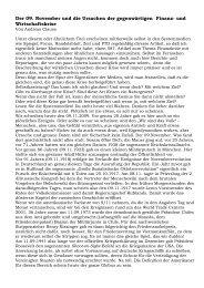 Der 09. November und die Ursachen der gegenwärtigen ... - Novertis
