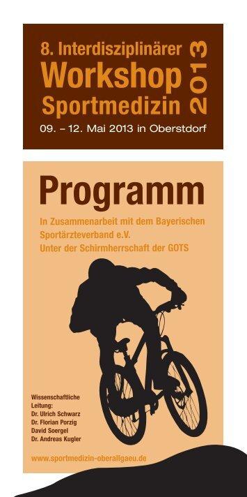 Programm - Arbeitsgemeinschaft interdisziplinäre Sportmedizin