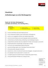 Anforderungen an eine Werbeagentur - ASW