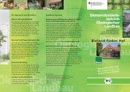 Betriebsinfos in einem Faltblatt (PDF-Datei) - Oekolandbau.de