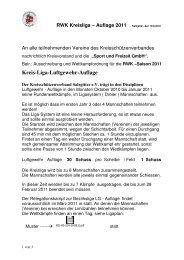 RWK Kreisliga-LG - Auflage 2011 - Kreisschützenverband Salzgitter ...