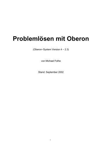Problemlösen mit Oberon