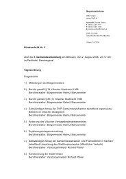 Niederschrift Nr. 3 über die 3. Gemeinderatssitzung am ... - Villach