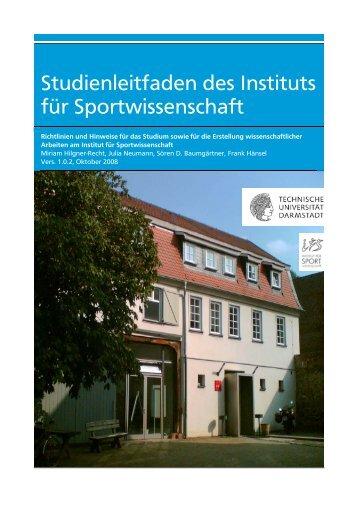 Studienleitfaden des Instituts für Sportwissenschaft - Institut für ...