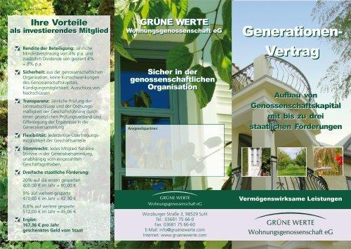 Generationen- Vertrag Generationen- Vertrag