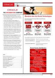 Überblick über alle Oracle Technologien