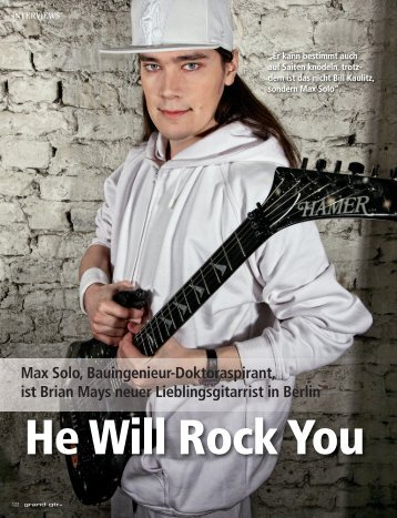 Interview with Max Solo, Grand Gtrs Magazine, 1/2011 - beim Guitar ...