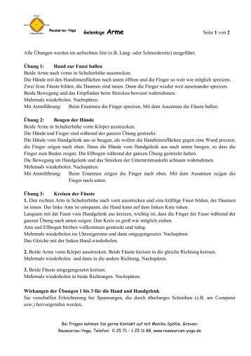 Seite 1 von 2 Alle Übungen werden im ... - Ressourcen-Yoga