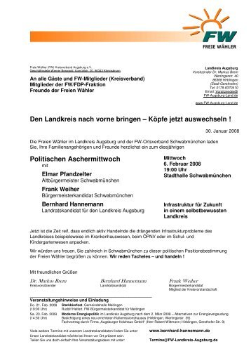 2008-02-06_Einladung_Politischer Aschermittwoch - Freie Wähler ...