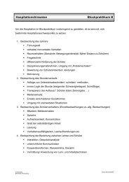 Hospitationshinweise Blockpraktikum B - Donat Schmidt
