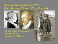 """Vom """"Sturm und Drang"""" zur Romantik 13 - Heinrich Detering"""