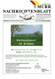 Nachrichtenblatt Nr. 20 vom 17. Mai 2013 - Gemeinde Murr
